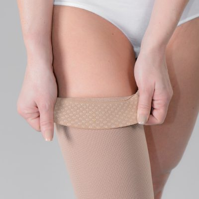 VARISAN Flat Knit Silicone Top Band Thigh High